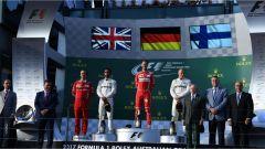 Il podio con Hamilton, Vettel e Bottas al GP d'Australia - F1 2017