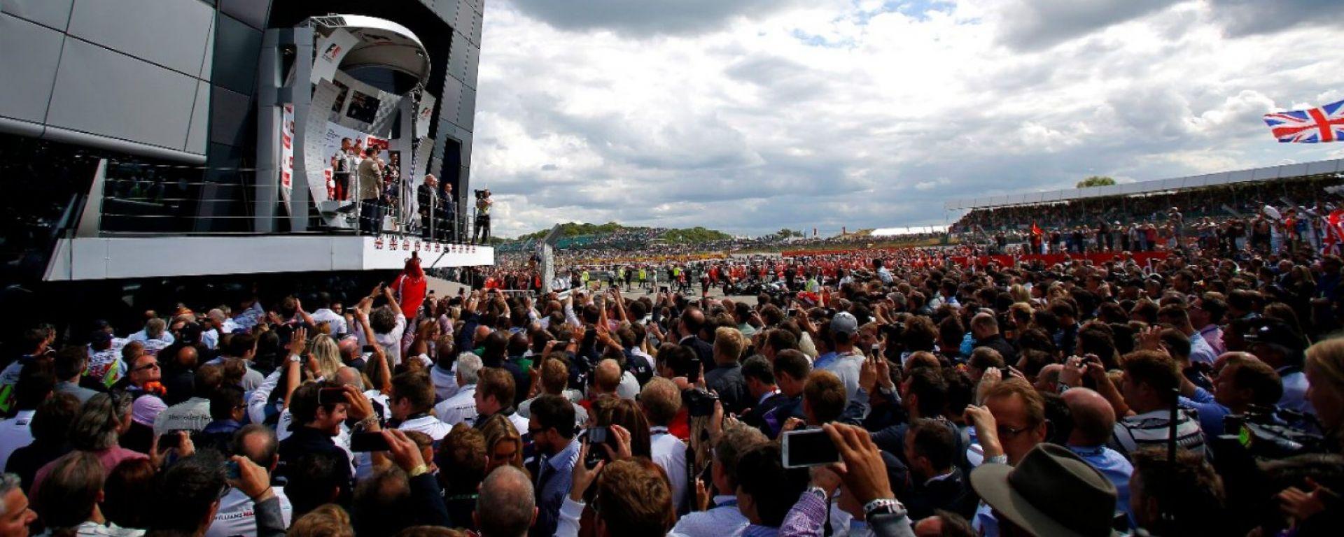 Il podio del Circuito di Silverstone - GP Inghilterra