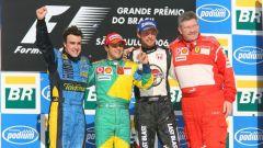 Il podio del GP Brasile 2006