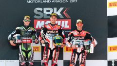 Il podio del GP di Aragon 2017 - Superbike 2017