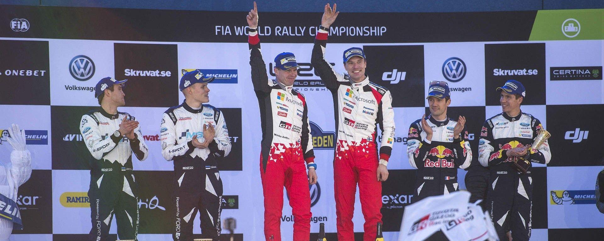 Il podio del Rally di Svezia 2017 - WRC 2017