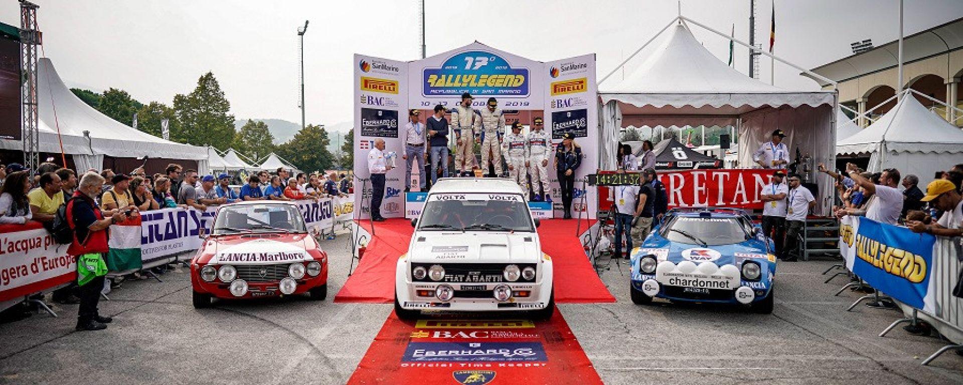 Il podio del RallyLegend 2019