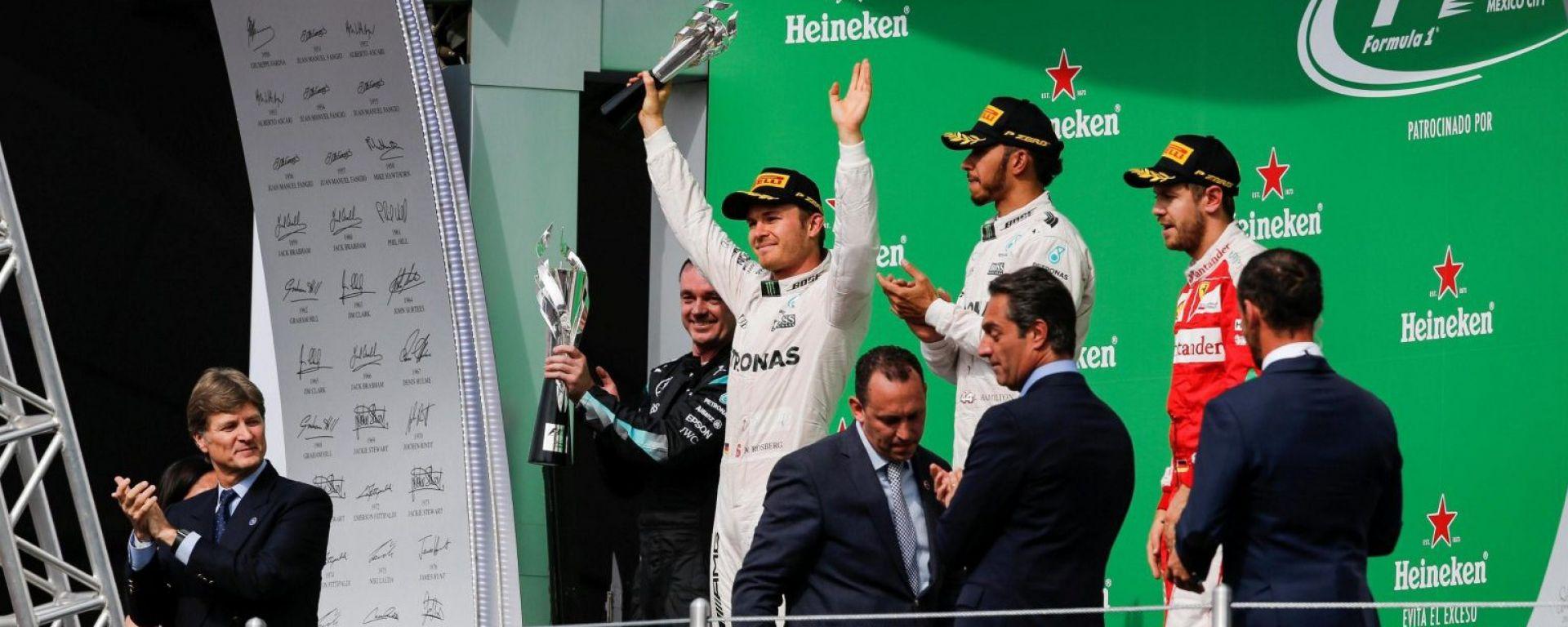 Il podio - F1 GP Messico 2016