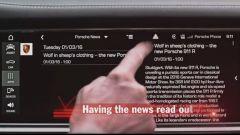 Il Porsche Connect della Porsche Panamera 2017 ha un servizio newsfeed