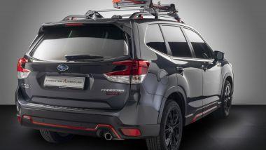 Il portasci di Subaru Forester e-Boxer 4dventure