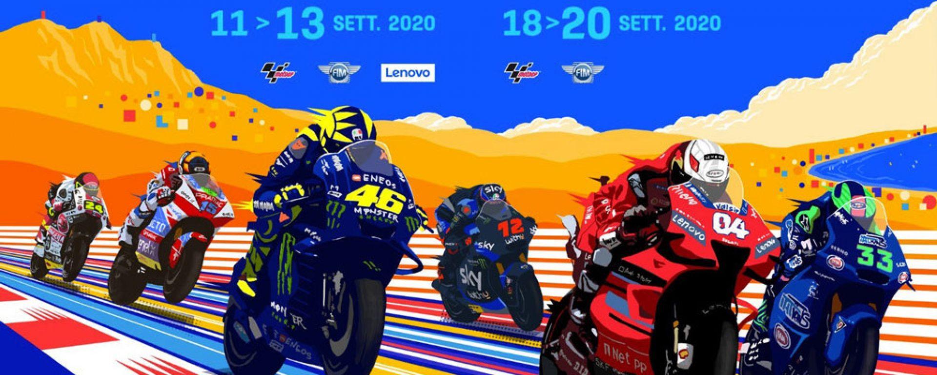 Il poster ufficiale dei GP di San Marino ed Emilia Romagna e della Riviera di Rimini
