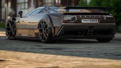 Il posteriore della Bugatti EB110 immaginata da Rostislav Prokop