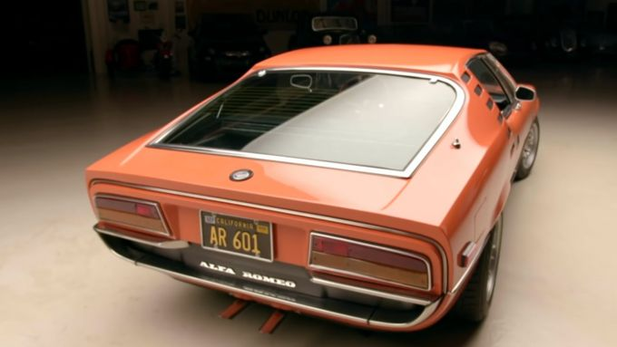 Il posteriore dell'Alfa Romeo Montreal