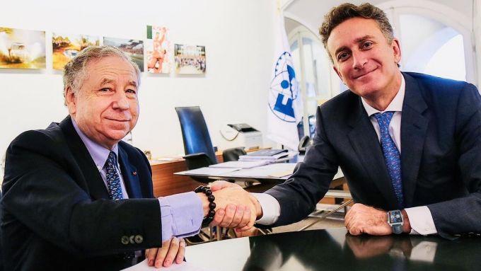 Il Presidente Fia, Jean Todt, e il fondatore della Formula E, Alejandro Agag