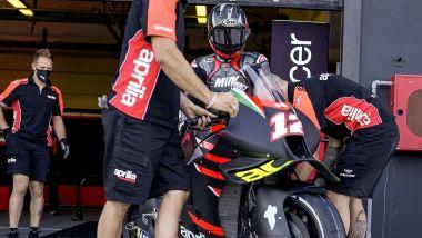 Il primo contatto di Maverick Vinales con l'Aprilia RS-GP a Misano Adriatico