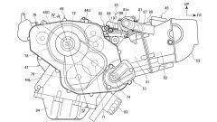 Il progetto del nuovo motore bicilindrico Honda da 850 cc vede una maggiore capacità ma un propulsore più compatto