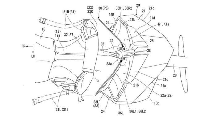 Il progetto Honda, con il nuovo codone con funzione aerodinamica, può ospitare una borsa ad hoc