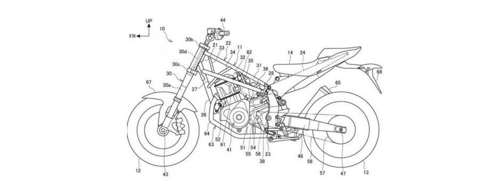 Il progetto Honda con il telaio a traliccio di tubi e motore dell'Africa Twin