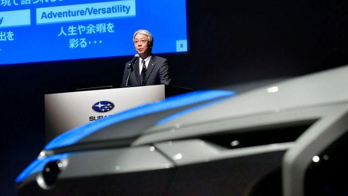 Il prototipo del crossover elettrico di Subaru