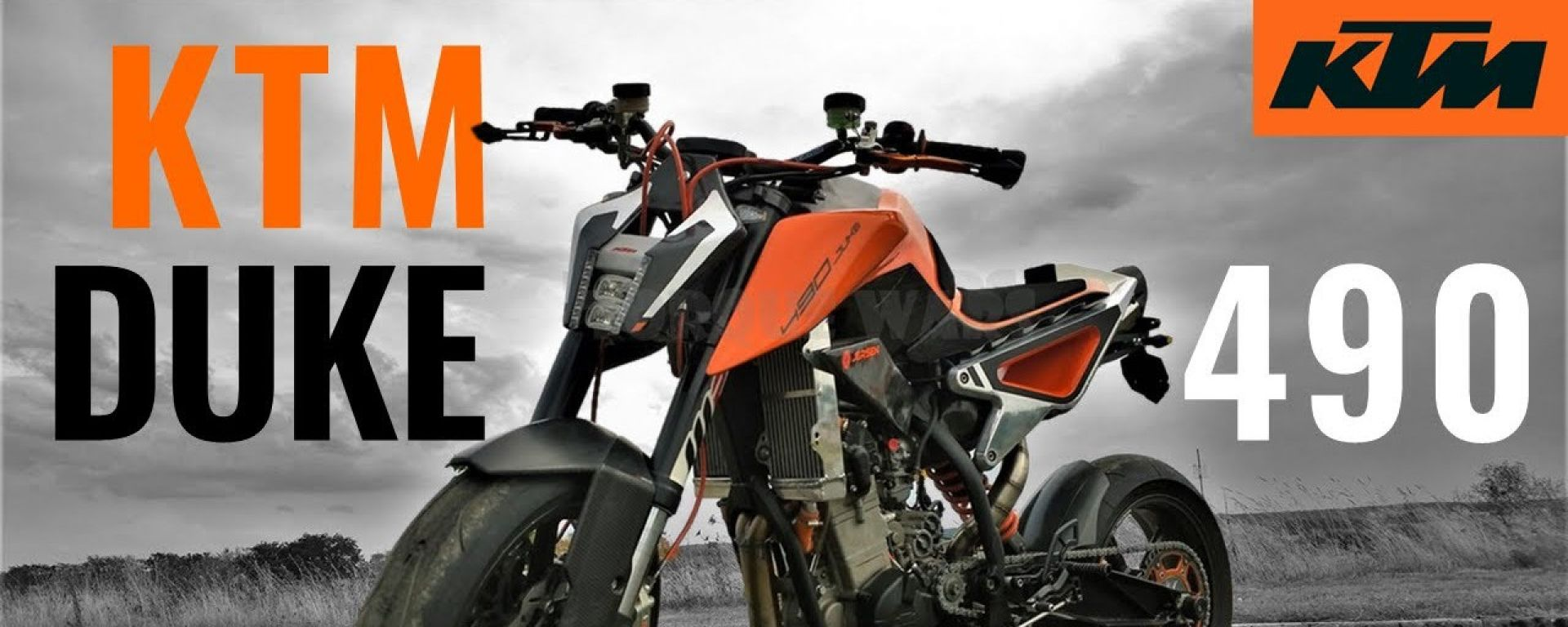 Il prototipo della KTM 490 Duke? Non è un vero e proprio concept...