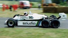 Il prototipo Williams FW08B portata in pista da Jonathan Palmer nel 1982 a Donington
