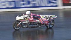 Il record del 1/4 di miglio in moto lo detiene il francese Eric Teboul con la Rocket Bike