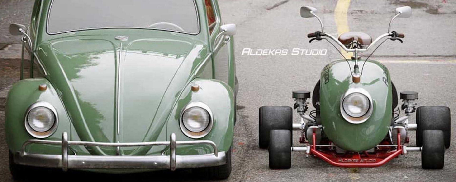 Il render di Aldekas Studio trasforma il parafango di una VW Beetle in go-kart