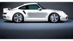 Il rendering della 959/911 Turbo 2020 di colore bianco