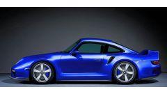 Il rendering della 959/911 Turbo 2020 di colore blu