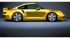 Il rendering della 959/911 Turbo 2020 di colore giallo