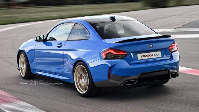 Il rendering della BMW Serie 2 Coupé 2021