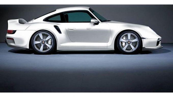 Il rendering della Porsche 959/911 Turbo 2020