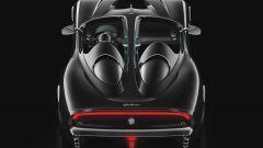 Il rendering della USD Barchetta Alfa Romeo: vista posteriore dall'alto