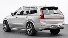 Il rendering di nuova Volvo XC100: il posteriore