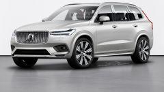 Il rendering di nuova Volvo XC100: l'anteriore
