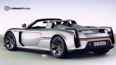 Il rendering di Sketch Monkey per una nuova, ipotetica Porsche Carrera GT 2021