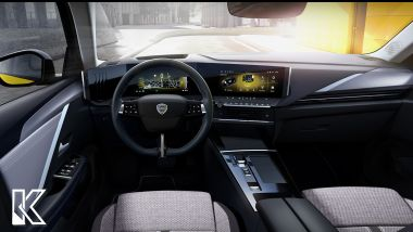 Il rendering di una nuova Lancia Delta su base Opel Astra, gli interni