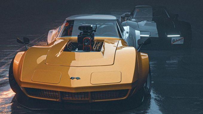 Il rendering estremo su Chevrolet Corvette C3