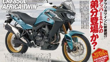 Il rendering giapponese sulla Africa Twin 850