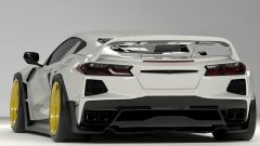 Il retro del kit widebody by Tra Kyoto per Chevrolet Corvette C8