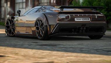 Il retro della Bugatti EB110 immaginata da Rostislav Prokop