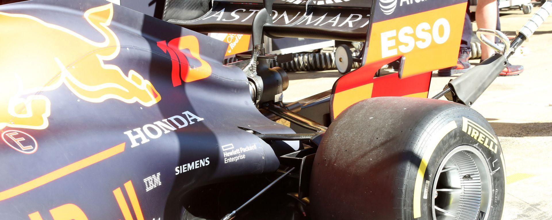 Il retrotreno della Red Bull RB15