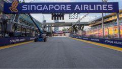 Il rettilineo del tracciato - F1 GP Singapore