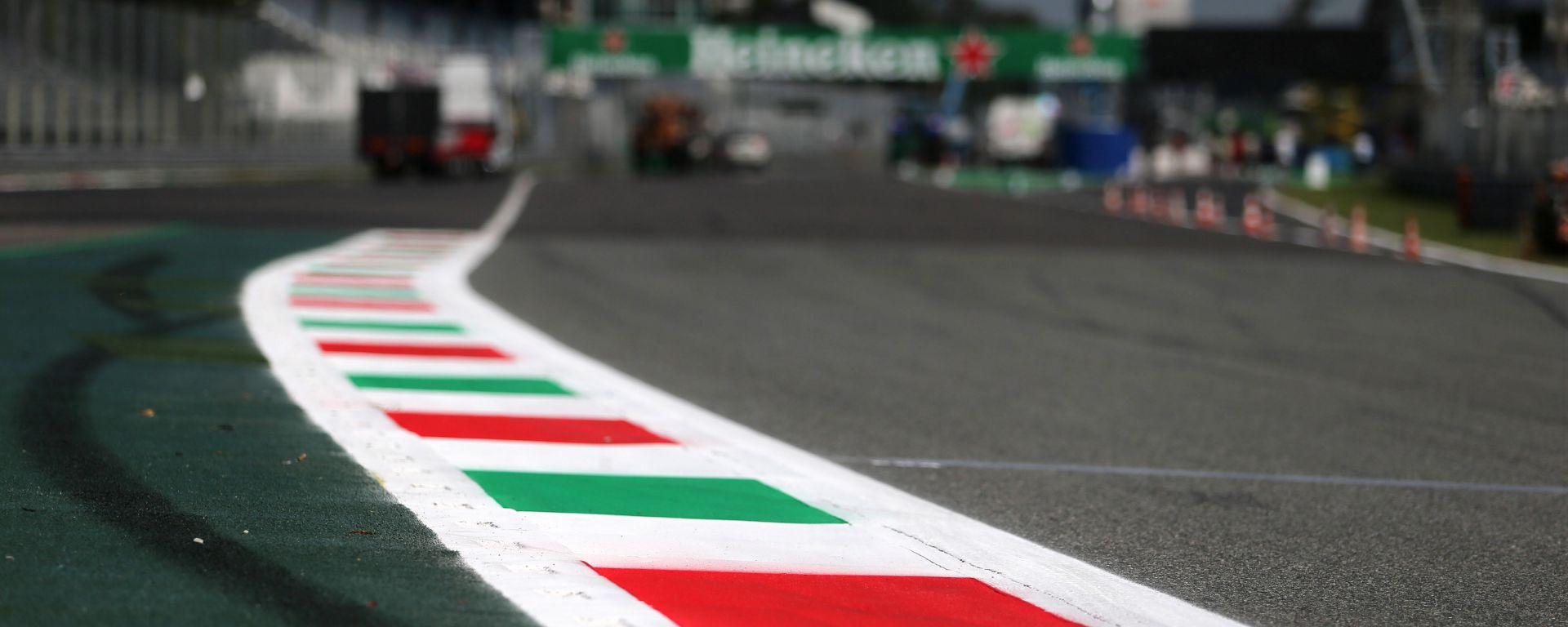 Il rettilineo principale dell'Autodromo Nazionale di Monza