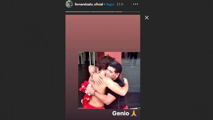Il ricordo di Fernando Alonso con Diego Maradona