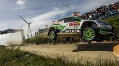 Il salto di Tideman con la Skoda R5 - Rally Portogallo WRC 2017