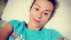 Il selfie di Anna Andreussi in ospedale -