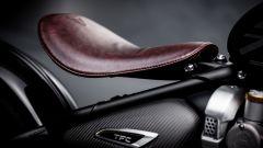 Il sellino in pelle regolabile della Triumph Bobber TFC 2020