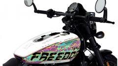 Il serbatoio della Freedom Edition, l'Harley-Davidson Street Rod 750 in edizione limitata per il Giappone