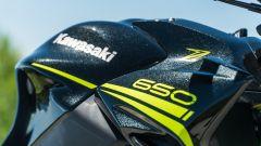 Il serbatoio della Kawasaki Z650