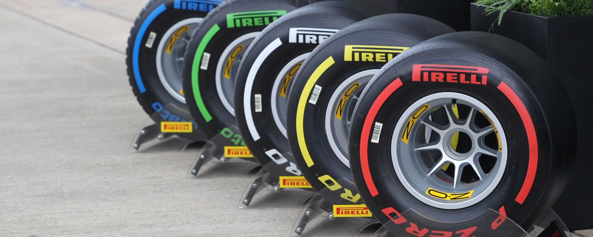 Il set completo di mescole Pirelli da Formula 1 2019