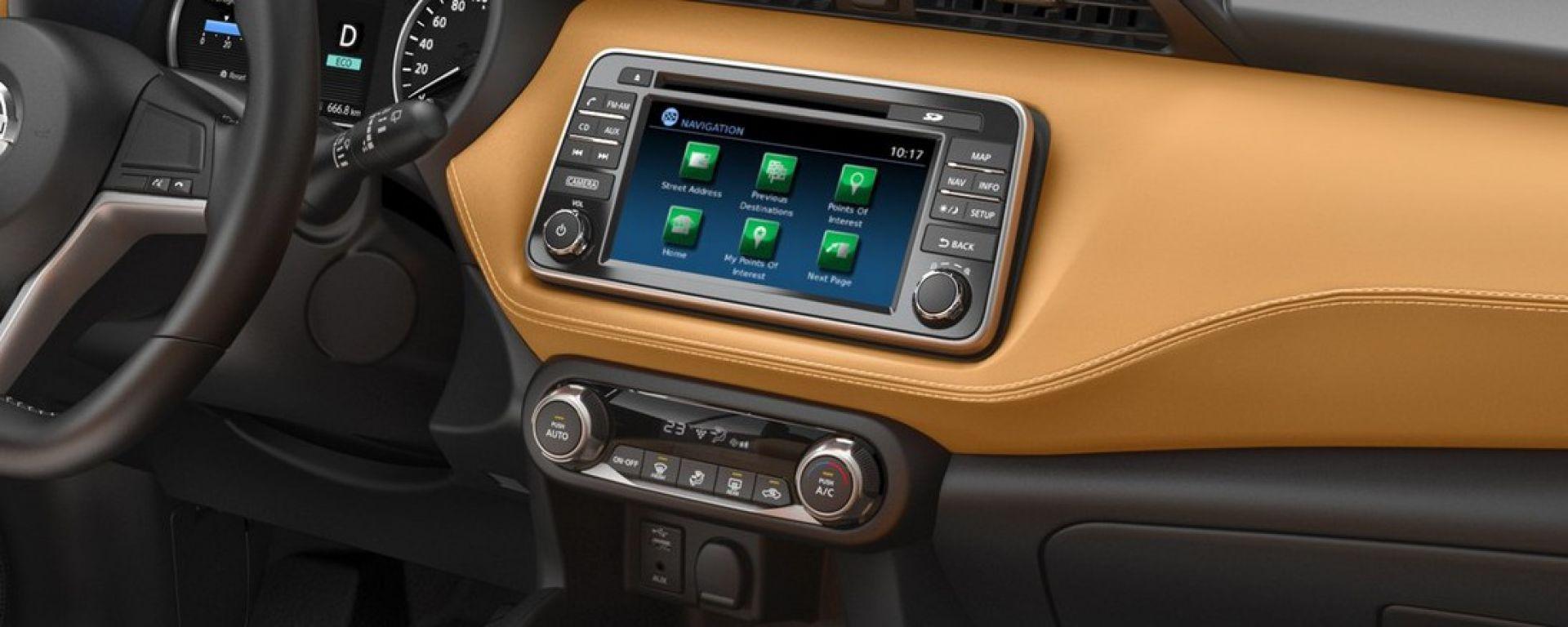 Il sistema di infotainment che debutterà a bordo della Nissan Kicks