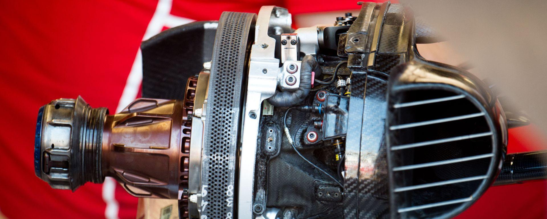 Il sistema frenante Brembo montato sulla Ferrari F1
