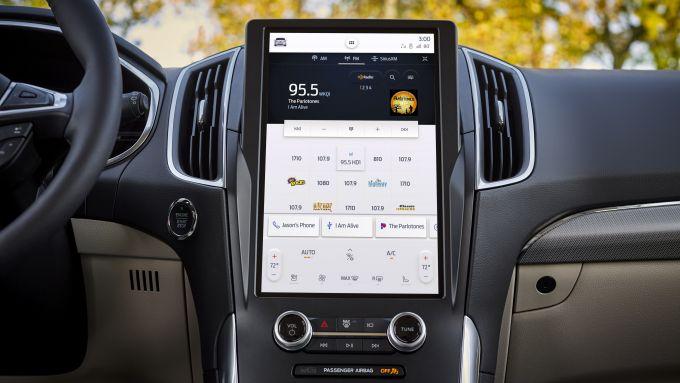 Il sistema infotelematico da 12'' di nuova Ford Edge 2021