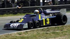 Il sud africano Jody Scheckter al volante della Tyrrell P34 nel 1976